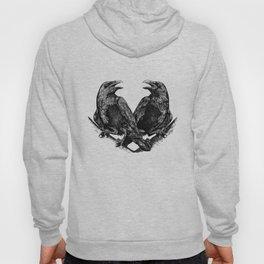 Odins Ravens Huginn and Muninn Hoody