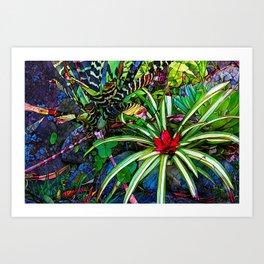 Tropical nature in Panama - digital abstract Art Print