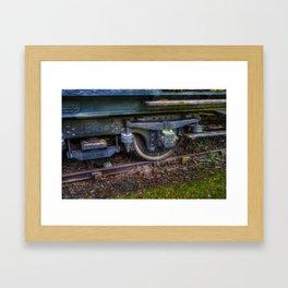 Steam Train Wheel Framed Art Print