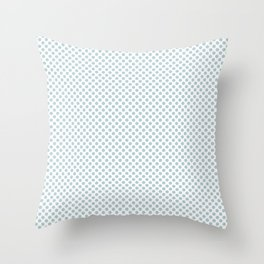 Starlight Blue Polka Dots Throw Pillow
