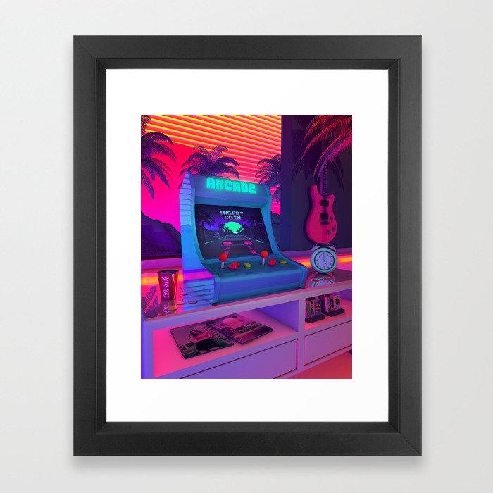 Arcade Dreams Framed Art Print