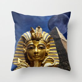 King Tut and Pyramid Throw Pillow