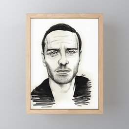 Michael Fassbender Framed Mini Art Print