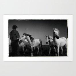 HORSE WHISPERER, FRANCE Art Print