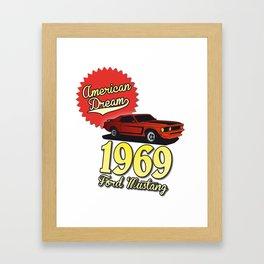 Ford Mustang 1969 Framed Art Print