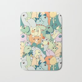 Cute Dino Pattern Bath Mat