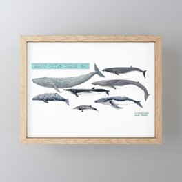 Happy world whale day Framed Mini Art Print