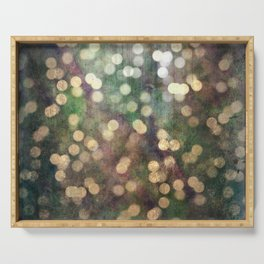 Magical Lights Gold Dots Serving Tray
