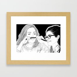 Orphan Black - Evelyne Brochu Dread Mustache (Original Artwork Print) Framed Art Print