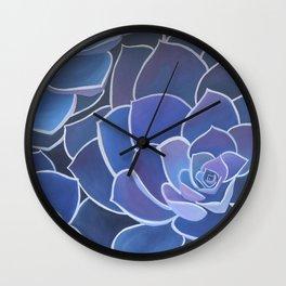 Purple Succulents Wall Clock