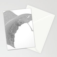 Woman in bed Stationery Cards