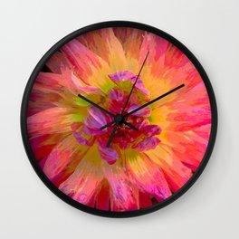 "Extreme Dahlia ""Hollyhill Margarita"" Wall Clock"