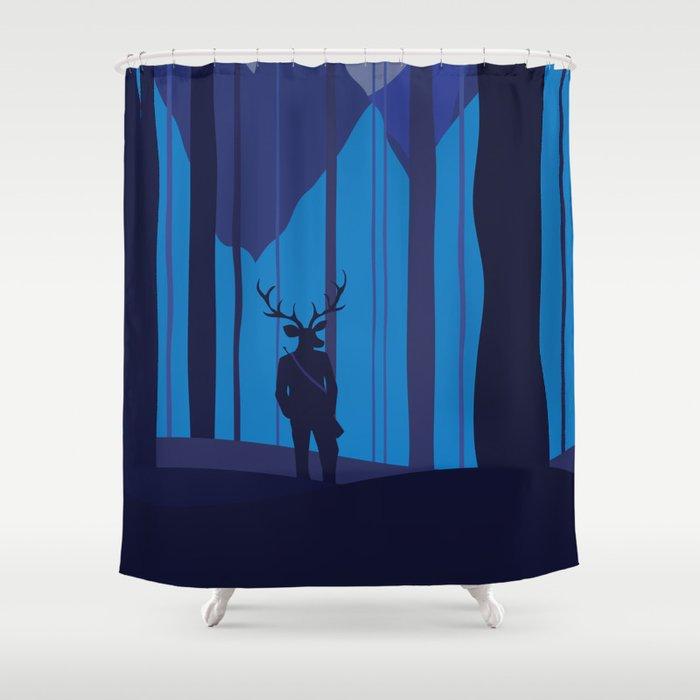 Human Hunting Shower Curtain