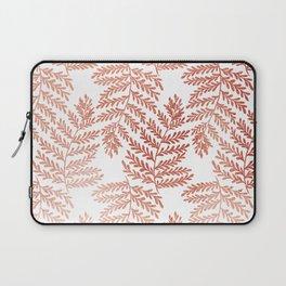 Fern Leaf - Rose Gold Texture Laptop Sleeve
