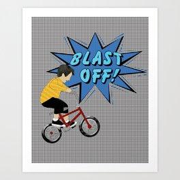 Pop a Wheelie Art Print