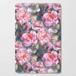 Pink floral pattern Cutting Board
