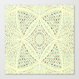 Pale Yellow and Blue Pattern Canvas Print