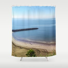 Playa del Inglés in Gran Canária (Spain) Shower Curtain