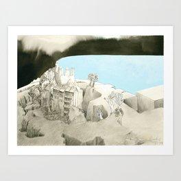 Landscape with a view Art Print