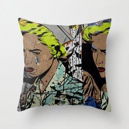 Nurse Pop/Street Art Collage Throw Pillow