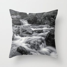 Valley of Waterfalls II Throw Pillow