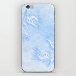 Delicate wattle bouquet in blue iPhone Skin
