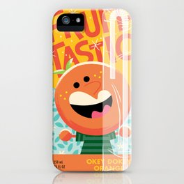Okey Dokey Orange iPhone Case