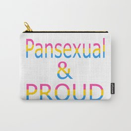 Pansexual and Proud (white bg) Carry-All Pouch