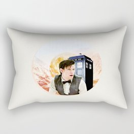 Doctor Who Eleventh Doctor Circle Graphic Rectangular Pillow