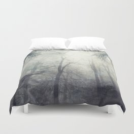 twistEd - foggy forest Duvet Cover