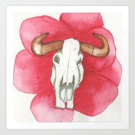 Death Meets the Flowers Art Print