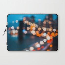 Bokeh view of Downtown Manhattan Laptop Sleeve