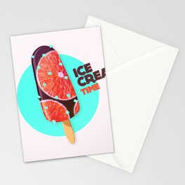 Ice cream - TIME - E Stationery Cards