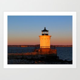 February Sunset at Bug Light (4) Art Print