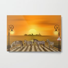 Use the zebra crossing Metal Print