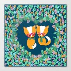 Valentine Fox Canvas Print