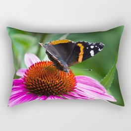 Red Admiral Butterfly Rectangular Pillow