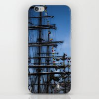 ships iPhone & iPod Skins featuring Tall ships by Stu Naranch