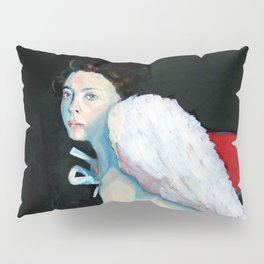 Angel wings - on a red chair Pillow Sham