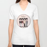 yellow submarine V-neck T-shirts featuring ♡ yellow submarine ♡ by lone snow