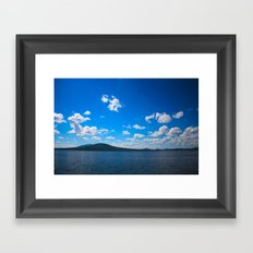 Blue lake Framed Art Print