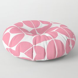 Mid Century Modern Geometric 04 Pink Floor Pillow