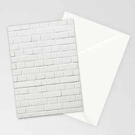 white brick wall tapestry Stationery Cards