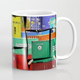 Colorful container wall board Coffee Mug