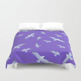 purple seagull day flight Duvet Cover