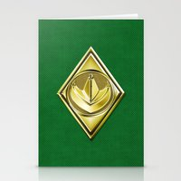 power ranger Stationery Cards featuring Green Ranger by Joshua Epling