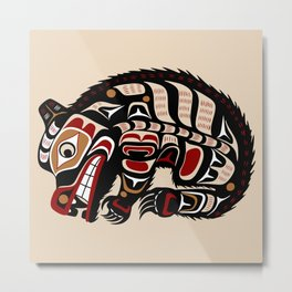 Bear, Salish Seasons Metal Print