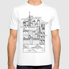 TOKYO White Mens Fitted Tee LARGE