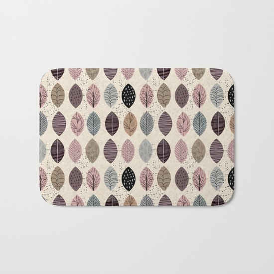 Nature Inspired Leaves Bath Mat