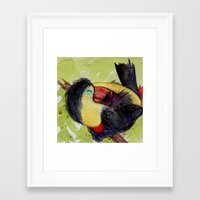 toucan Framed Art Prints featuring Toucan by Pendientera